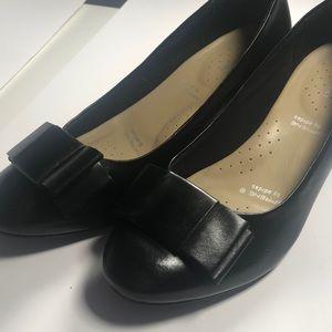 Rockport Black Leather Wedges